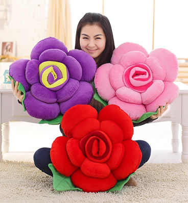 玫瑰花抱枕靠垫 | PILLOW CUSHION FOR ROSES